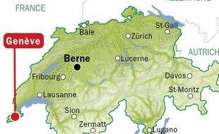 Localisation de Genève (Suisse).