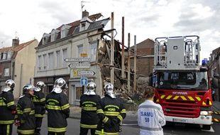 La maison du 38, rue Pierre-Legrand, qui s'est effondré en septembre 2014, faisant deux morts, une mère et son fils.