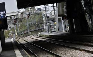 Une gare (illustration)