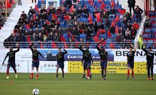 Le stade Ange Casanova du Gazelec Ajaccio.