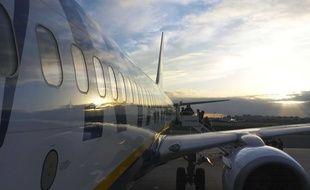Illustration d'un avion de la compagnie aérienne Ryanair.
