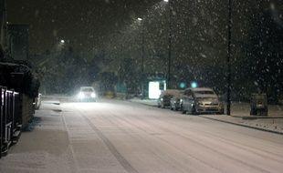 Illustration de chutes de neige à Rennes, ici en 2012.