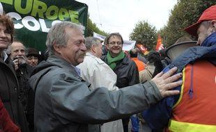 José Bové passera la nuit sous tente à Kolbsheim avec les opposants au GCO (photo d'archives, à Strasbourg)