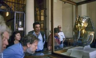 le masque funéraire de Toutankhamon est exposé au musée du Caire en Egypte