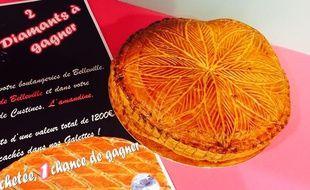 Galette des rois de la boulangerie Les Délices de Belleville (54)