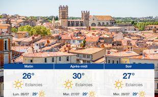 Météo Montpellier: Prévisions du dimanche 25 juillet 2021