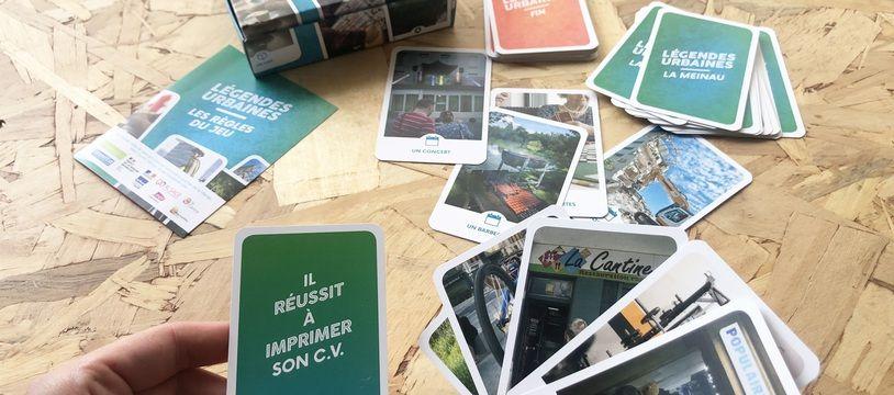 Jeu de cartes Légendes urbaines de la compagnie artistique Lu² à Strasbourg le 26 mai 2021.