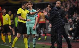 Unai Emery s'en prend à l'arbitre lors de Rennes-Arsenal