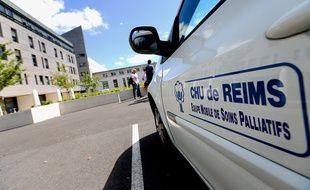 Le CHU de Reims, où se trouve Vincent Lambert, le 27 juin 2015.