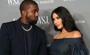 Le rappeur Kanye West et son épouse, la femme d'affaires Kim Kardashian