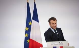 Emmanuel Macron le 13 avril 2018 à l'Elysée.