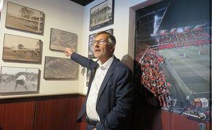 Président non exécutif du club, Jacques Delanoë a été le grand artisan de ce musée dédié à l'histoire du Stade Rennais.