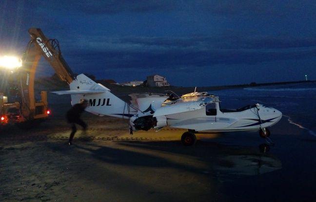 L'ULM a été récupéré par des spécialistes du sauvetage aquatique, près d'Agde.