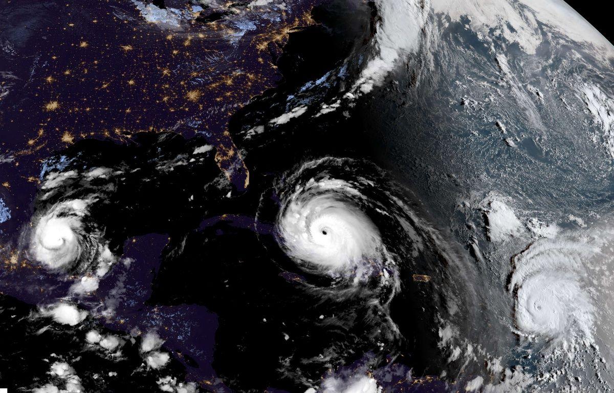Katia, Irma et Jose: trois ouragans sont sont formés à quelques jours d'intervalle dans l'Atlantique. – NOAA/SIPA