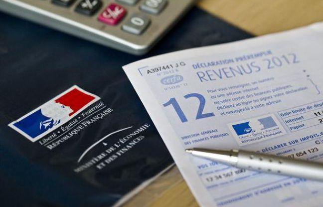Formulaire de déclaration des impôts 2012.