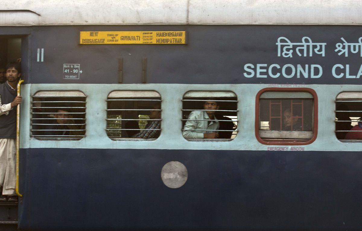 Illustration d'un train en Inde. – Anupam Nath/AP/SIPA