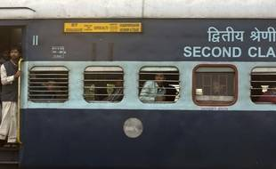 Illustration d'un train en Inde.