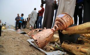 Un attentat suicide a fait 32 morts à Al-Asriya, en Irak, à l'issue d'un match de football, le 25 mars 2016.