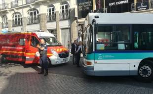 L'accident s'est produit ce vendredi après-midi rue du Maréchal Joffre.