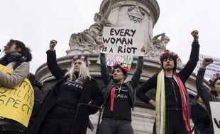 La marche des femmes il y a un an