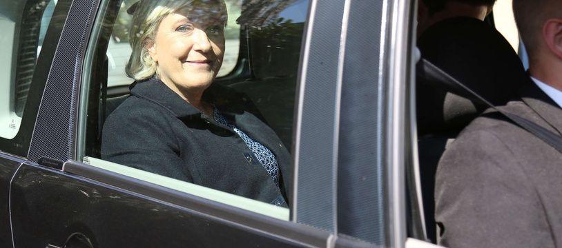 Marine Le Pen, députée, présidente du Front national, le 23 septembre 2017 à Toulouse