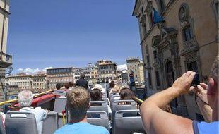 Des touristes à Florence.