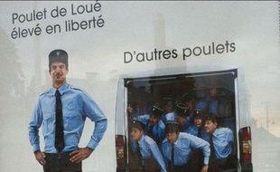 Une publicité pour les poulets Loué choque la police nationale.