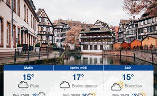 Météo Strasbourg: Prévisions du jeudi 26 septembre 2019