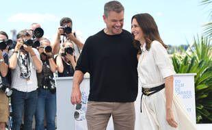 Matt Damon et Camille Cottin s'amusent à Cannes le vendredi 8 juillet 2021