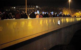 En 2014 à Lyon, lors de la marche des lumières contre le cancer organisée par le centre Léon-Bérard.