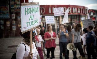 Un collectif de féministes ont appelé , le 7 Juin 2018, a un rassemblement devant le Zenith de Paris avant le concert de Bertrand Cantat