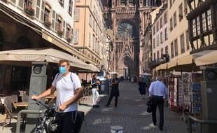 Le port du masque était obligatoire à Strasbourg depuis samedi matin, comme dans douze autres villes du département.