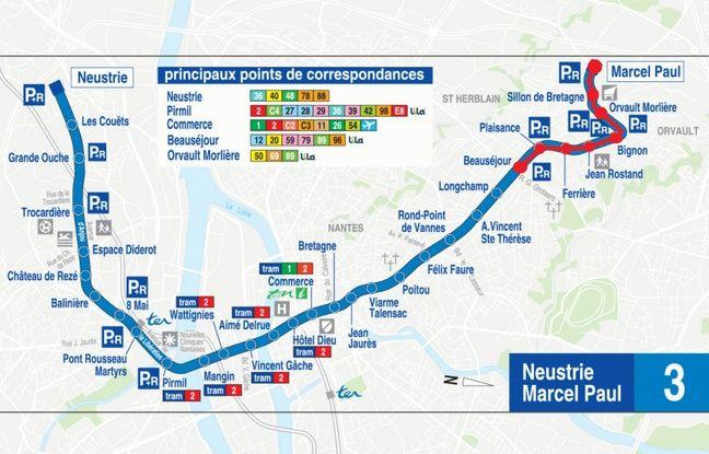 La ligne 3 est coupée entre les stations Beauséjour et Marcel-Paul.