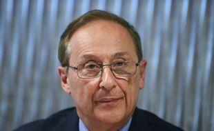 Didier Gailhaguet lors de sa conférence de presse au siège de la FFSG, le 5 février 2020.