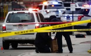 Illustration d'une voiture de police dans l'Etat de l'Ohio, aux Etats-Unis.