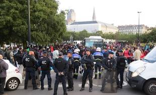 Evacuation du square Daviais jeudi 20 septembre 2018.