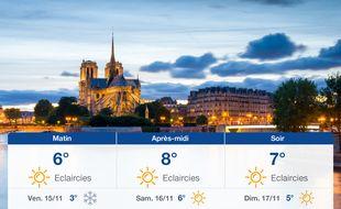 Météo Paris: Prévisions du jeudi 14 novembre 2019