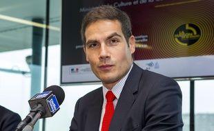 Mathieu Gallet, président-directeur général de Radio France, le 15 octobre 2014 à Paris.