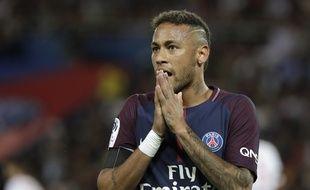 Neymar durant son premier match au Parc des Princes, face à Toulouse, le 20 août 2017.