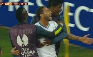 Ricardo Quaresma célèbre son but contre Naples, le 20 mars, en huitième de finale de Ligue Europa.