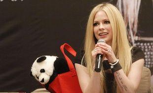 Avril Lavigne à Shanghai, en février 2014.
