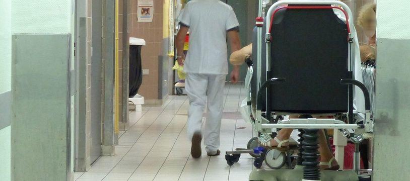 Lyon, le 6 juillet 2015. Illustration du service des urgences de l'hôpital Edouard Herriot à Lyon