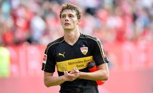 Benjamin Pavard sous le maillot de Stuttgart, le 26 août 2018.