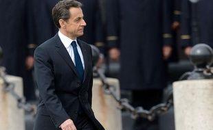 Nicolas Sarkozy lors des célébrations du 8-Mai 2012.