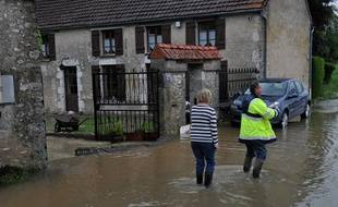 Meung-sur-Loire au sud d'Orléans, a été touché par les inondations