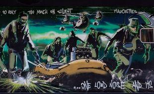 L'oeuvre «Silent Majority» de Banksy.