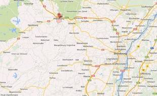 Googlemap de Phalsbourg (Moselle).