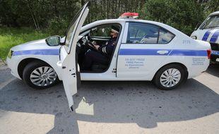 Illustration de policiers russes.