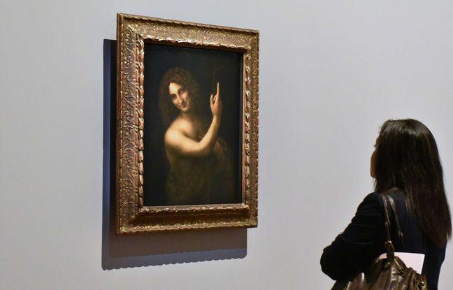 Exposition Léonard de Vinci au Musée du Louvre a Paris. a l'occasion des 500 ans de la mort de Léonard de Vinci en France, le musee du Louvre conçoit et organise une grande rétrospective consacrée a l'ensemble de sa carrière de peintre. Paris,