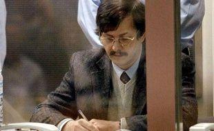 Marc Dutroux lors des derniers jours deson procès, en juin 2004